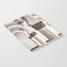 The Historic Arches in the Synagogue of Santa María la Blanca, Toledo Spain Notebook