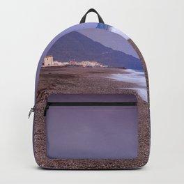 Salinas Beach At Sunset. Backpack