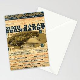 retro mme. sarah bernhardt san francisco orpheum. 1913 Stationery Cards