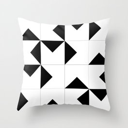 Abstract Spiral Triangles I Throw Pillow