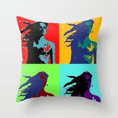 Warhol Goddess Throw Pillow