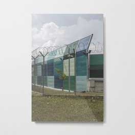Restricted Zone Metal Print