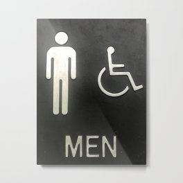 Able Men and Men on Wheelchairs Metal Print
