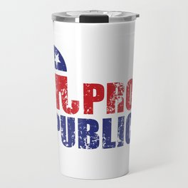 Proud Republican Elephant Distressed Travel Mug