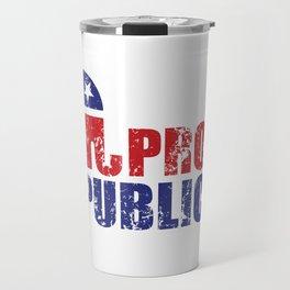 Proud Republican Elephant Distressed Travel Mug