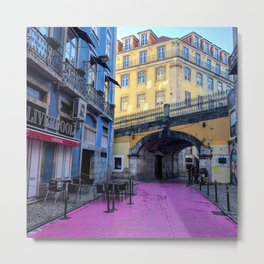 Tri-Color Lisboa Metal Print