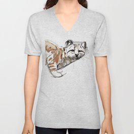 Andean Mountain cat (AGA) Unisex V-Neck