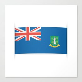 Flag of British Virgin Islands. The slit in the paper with shadows.  Canvas Print