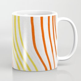 Red And Yellow Stripes Coffee Mug