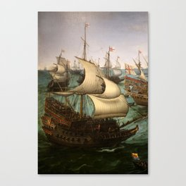 "Hendrick Cornelisz Vroom ""The meeting of Frederic V and Elizabeth Stuart on the sea"" Canvas Print"