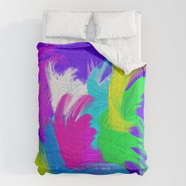 Colorful Splash Chill Vibe Abstract Comforters