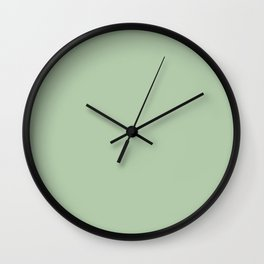 Playful Pastel Green Solid Color Pairs To Sherwin Williams Relish SW 6443 Wall Clock