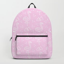 Flamingoes on Pink Backpack