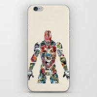superheros iPhone & iPod Skins featuring modern ironman  by bri.buckley