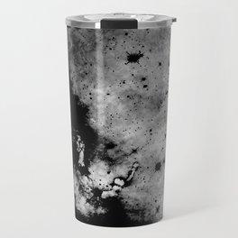 War - Abstract Black And White Travel Mug
