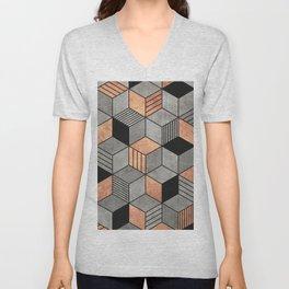 Concrete and Copper Cubes 2 Unisex V-Neck