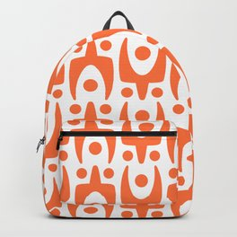 Mid Century Modern Abstract Pattern 541 Orange Backpack