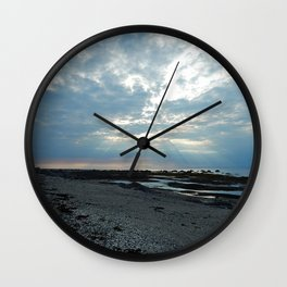 Rays of Sunshine on a Cloudy Day Wall Clock