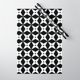 Geometric Pattern 247 (white crosses) Wrapping Paper