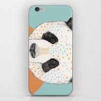 panda iPhone & iPod Skins featuring Polkadot Panda by Sandra Dieckmann