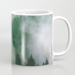 Clear life's mist to see beauty. Green Coffee Mug