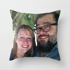 Camilea & John Throw Pillow