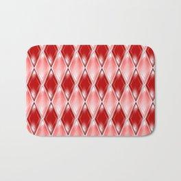 Glass effect red pattern Bath Mat