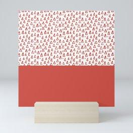 Triangles Fiesta Red Mini Art Print