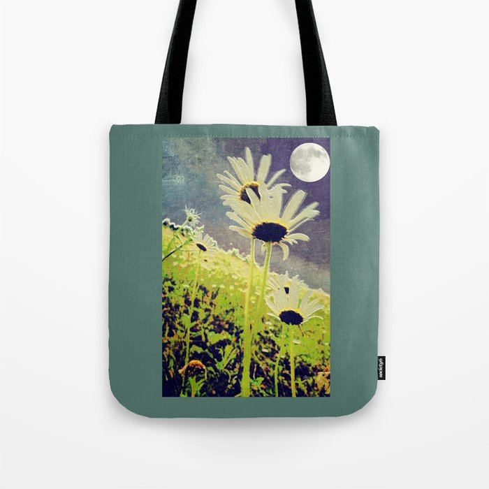 As the Daisies Greet the Evening Sky Tote Bag