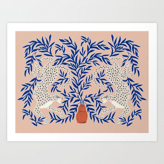 Leopard Vase Art Print