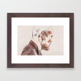 Violent Heart, Tender Soul Framed Art Print