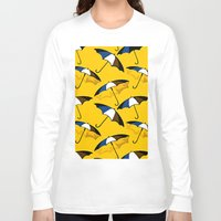 umbrella Long Sleeve T-shirts featuring Umbrella  by Saundra Myles