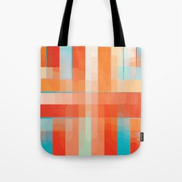 Orange Turquoise Summer Abstract Design Tote Bag