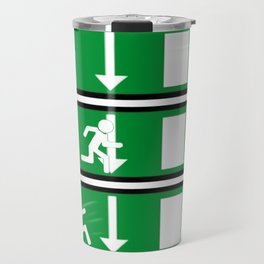 Fire Exit Funny. Travel Mug