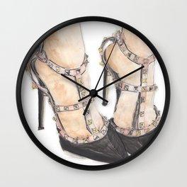 Valentino Rockstuds (Black) // Rockstud Heels Wall Clock