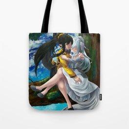 Yin and Yang Lilies Tote Bag