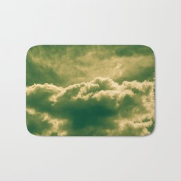 A slice of cake and a cup of tea. Bath Mat