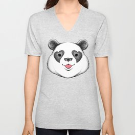 Panda Love Unisex V-Neck