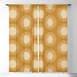 Golden Sun Pattern II Blackout Curtain