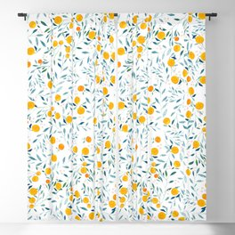 Orange Tree Blackout Curtain
