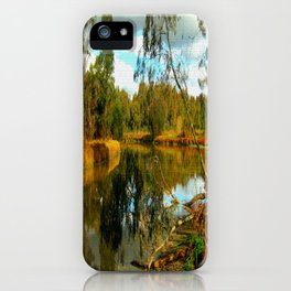 Dusk over a Swamp iPhone Case