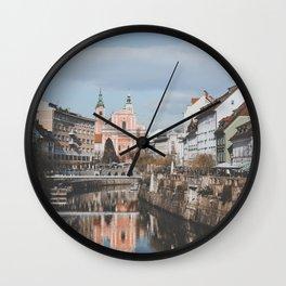 Ljubljana, Slovenia III Wall Clock
