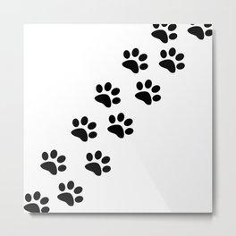 Pawprints Metal Print