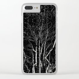 Creepy Tree Refraction Clear iPhone Case