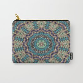 Jade & Gold Mandala Carry-All Pouch