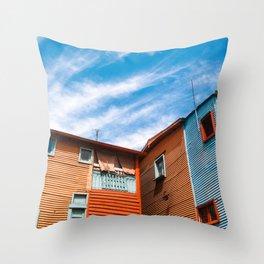 Colors at Caminito Throw Pillow