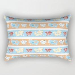 Vulpix and Ninetales Stripe Rectangular Pillow