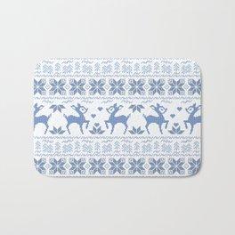 Christmas pattern. Cross-stitch. 2 Bath Mat