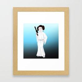 Princess of Alderaan Framed Art Print