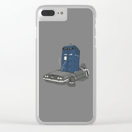 Stuck in the future Clear iPhone Case
